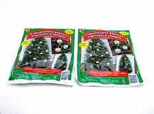 """2 PACKS GIANT SILVER STUFF-AN-ORNAMENTS OUTDOOR CHRISTMAS TREE DECORATIONS 22"""""""