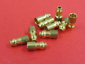 1930's 40's NEW original style brass wiring bullet end connectors (10) B-14486-S