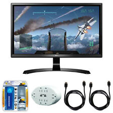 "LG 24"" 4K UHD FreeSync IPS Monitor 24UD58-B with Accessory Hook up Bundle"