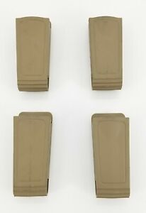 4-Safariland 71-1 9MM Single & Double Stack Magazine Pouch Belt Loop FDE Unlined