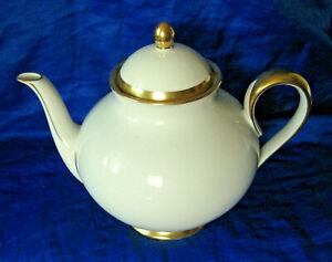 Furstenberg Porcelain Teapot 1650 Pattern Gold Trim