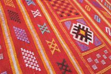 Moroccan Vintage Carpet Sabra Kilim Rug Tribal Atlas Berber Hand Woven Red