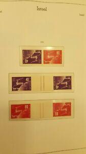 Coleccion sellos Israel año 1948 a 1985 Bandeleta consultar en tienda