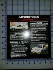 Ford Merkur XR4Ti Brochure Sheet Performance