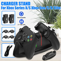 For Xbox Series S/X Dual Controller Charging Dock Station+2 Rechargeable Battery