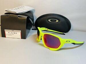 New Oakley Plazma Sunglasses Matte Retina Burn / Prizm Road Lens Yellow / Green