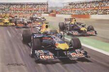 Formula 1 One F1 Motor Racing Car Red Bull Mark Webber Blank Birthday Card