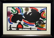 Joan Miro I No.IV 1972 Original Lithograph Custom Gallery Frame SUBMIT AN OFFER