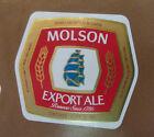VINTAGE CANADIAN BEER LABEL - MOLSON BREWERY, EXPORT ALE 12 FL OZ #8