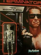 """ReAction The Terminator T800 Endoskeleton 3 3/4"""" Figure - unpunched card!"""