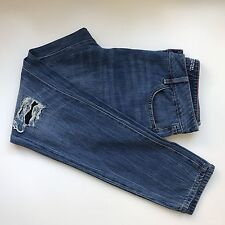 "Next Women's Jeans ""The Relaxed Boyfit"" Distressed Holes Size 10 Long"