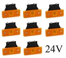 8x LED Side Marker Lights with Brackets Truck Lorry Trailer for Scania MAN Volvo