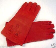 Manchettes en cuir rouge GL1, de nettoyage cryogénique, soudure, bicarbonate de soude le marquage ce