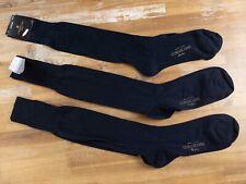 CORNELIANI 3 pairs over the calf navy blue wool cotton socks - Size 13 - NWT