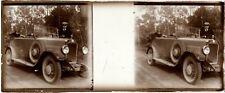 Lot 4 Anciennes plaques verre stéréo positif - Voitures automobiles an. 1910