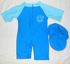 BabyPrem Big Fisch Baby Boys Blue All-in-one UV Sun Protection Swimwear Suit 3m+
