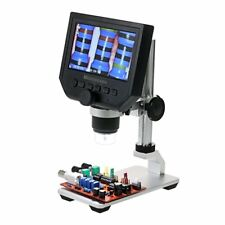 """Microscope With Stand 4.3"""" LCD Electron LED Screen 1-600X USB For PCB Soldering"""