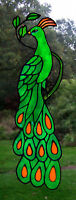 Window Decor Peacock Stained Glass Effect Window Cling