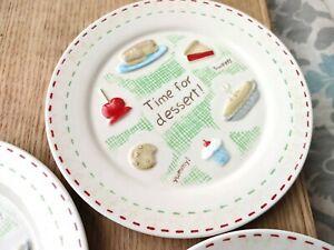 """Grasslands Road 6 5/8"""" Dessert Plates (Set of 4)"""