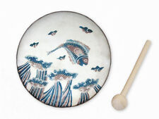JUMPING FISH  Small FRAME  DRUM # J0521~from JAVA~JAMTOWN ~Fair Trade