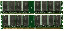 2GB (2x1GB) PC2700 DDR333 333Mhz 184pin Desktop Memory NON-ECC Low Density