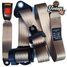 Vw Transporter Camper T3 3 Point Rear Automatic Inertia Seat Lap Belt Kit Brown