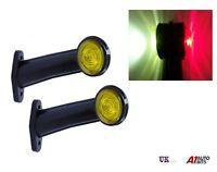2x LED Lato Profilo Evidenziatore 12V Rosso/Bianco Luci Rimorchio Camion Telaio
