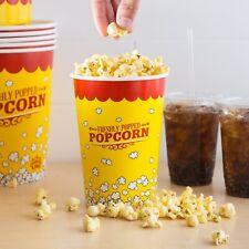 500 Pack 46 Oz Round Paper Movie Theatre Concession Popcorn Cups