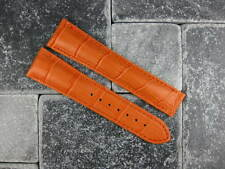 OMEGA 20mm Orange Leather Deployment Strap Orange Stitch Watch Band Seamaster