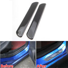 2x Carbon Fiber Door Sill Scuff Cover Plate Panel Protect Trim For Universal Car