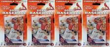 (4) 2016 Topps St. Louis Cardinals MLB Baseball 17 Card Team Set LOT