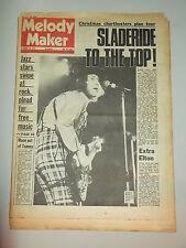 MELODY MAKER 1973 DECEMBER 15 KEITH MOON SLADE ELTON JOHN FACES DAVID BOWIE