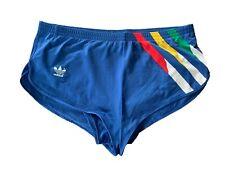 Adidas vintage Sprinter Shorts Gr. D 7 L Sporthose 80s shiny blau 80er FS7