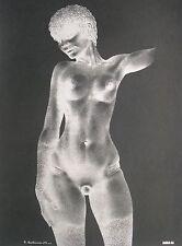 """Raymond Bertrand / Offsetdruck weiblicher Akt (Negativbild) / """"Studio 69"""" Erotik"""