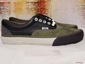 Vans VAULT green suede Black Leather mens size 9.5 W 11 721454