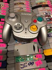 Nintendo Gamecube Platinum Wavebird Controller W/ Reciever + Batteries Bundle
