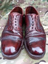 More details for british army officers / warrant brown oxford shoes hob nailed size 9 9.5 parade