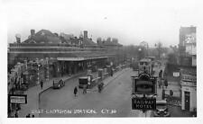East Croydon Railway Station unused RP old pc Croydon Times probably late 1940's