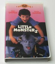 LITTLE MONSTERS 1989 Clamshell VHS RARE OOP TESTED VG Fred Savage Howie Mandel