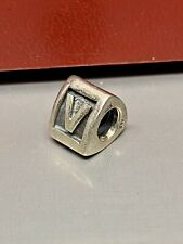 "PANDORA TRIANGLE ALPHA ""V"" BLOCK CHARM 790323V"