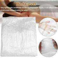 100* Disposable Sofa Bed Couch Pad Covers Plastic Massage Table SPA Salon F7Z4