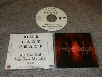 OUR LADY PEACE All You Did Was Save My Life RARE DJ PROMO Acetate CD Single 2009