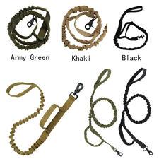 Dog Leash Police Tactical Training Heavy Duty Nylon Bungee Military w/Handle