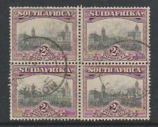 South Africa - 1927/30, 2d Grey & Maroon - Block of 4 - G/U - SG 34