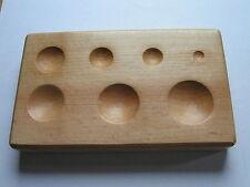 doming block hard wood round holes