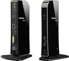 Toshiba DynaDock U3.0 Universal Docking Station Port Replicator USB 3.0 HDMI DVI