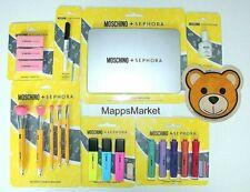 Nib Sephora Moschino 8Pc Set ~ Laptop Palette, Eyeliner, Brush, Lip, Cheek Set