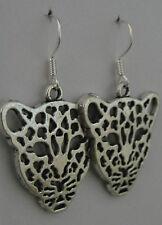Beth loves leopards! earrings guitar rockabilly rock leopard print cat