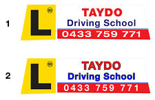 Magnetic Roof Sign - Roofsign 2 *** AUSSIE SUPPLIER *** Driving School