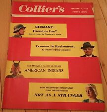 COLLIERS MAGAZINE FEBRUARY 4 1955 GERMANY TRUMAN RETIREMENT AMERICAN INDIANS